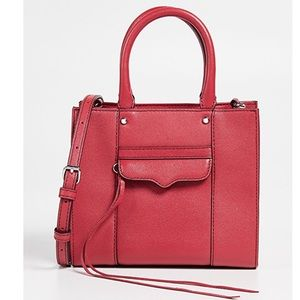 Rebecca minkoff peach MAB mini tote crossbody